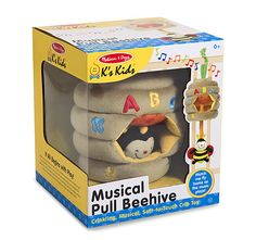 Melissa & Doug K's Kids Musical Pull Beehive - Crinkling, Soft-to-Touch Crib Toy Crib Toys, Baby Toys, Motor Skills Activities, Melissa & Doug, Quirky Gifts, Kids Store, Baby Cribs, Toddler Toys, Baby Gifts