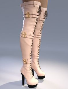 Natalie High Boots for Genesis 3 Female(s) is a glamour, footwear for Genesis 3 Female for Daz Studio or Poser created by and Arryn. Heel Boots For Women, Thigh High Boots Heels, Hot High Heels, Heeled Boots, Shoes Heels, Shoes Women, Frauen In High Heels, Trainer Boots, Long Boots