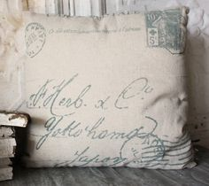Obsessed with vintage looking pillows, this one is reasonably priced