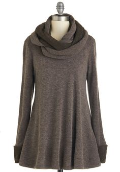 Optimal Adorable Sweater - Brown, Long Sleeve, Long, Knit, Solid, Fall, Winter, Brown, Casual, Long Sleeve