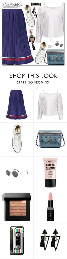 """White Sneakers"" by oshint ❤ liked on Polyvore featuring Converse, NYX, Bobbi Brown Cosmetics and Smashbox"