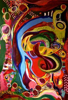 "#Bloom True Acrylic ""A Bird's eye View"" 150 cm x 100 cm"