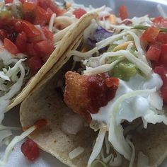 Try our #original #beerbattered #gouper #fishtacos the #guyfieri way: #hot and #loaded! #foodnetwork #tripleD #DDD
