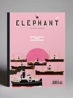 I detest this colour and everything it implies; but I love this cover as a result. Elephant - Magazines - Frameweb