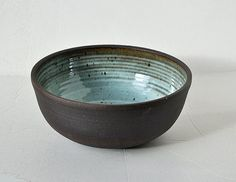 Wheel Thrown black mountain Clay salad bowl by ceramicpix on Etsy