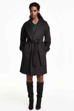Płaszcz z domieszką wełny | H&M