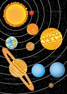 Planets in Solar System. - Nature Conceptual