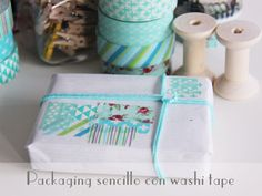 Little Hannah: Un packaging sencillo con washi tape