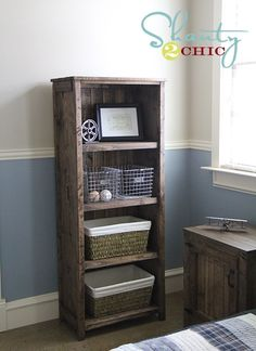 DIY bookcase instructions