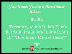 You know your a directioner when...