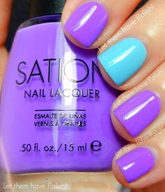 Love these two colors -   Tardy Tart and Jock Juggler by Sation  Swatched by: Let them Have Polish