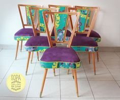 Sillas americanas Murcy Diy Furniture Projects, Upcycled Furniture, Furniture Makeover, Vintage Furniture, Furniture Decor, Furniture Design, Reupolster Chair, Diy Möbelprojekte, Diy Chair