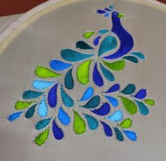 Load stitch and tambour Basic Embroidery Stitches, Embroidery Works, Creative Embroidery, Indian Embroidery, Embroidery Patterns, Peacock Embroidery Designs, Embroidery Suits Design, Kamiz Design, Cute Braided Hairstyles