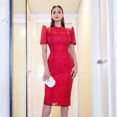 Grad Dresses, Bridesmaid Dresses, Dresses For Work, Formal Dresses, Modern Filipiniana Gown, Evening Gowns, Lace Dress, Celebrity Style, Short Sleeve Dresses