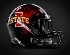 If These Helmets Are Real, Iowa State Has Just Changed The Game - Next Impulse Sports Isu Football, Iowa State Football, Football Helmet Design, College Football Uniforms, College Football Helmets, Iowa State Cyclones, Custom Football, American Football, Football Stuff