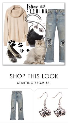 """Feline Fashion"" by andrejae ❤ liked on Polyvore featuring R13, STELLA McCARTNEY and catstyle"
