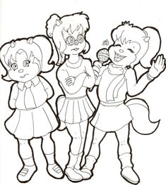 Emo Coloring Page For Kids