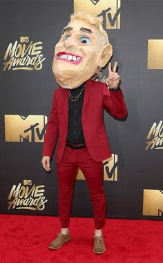 Mike Posner from MTV Movie Awards 2016 Red Carpet Arrivals  Is it just us, or does the singer look a little different tonight?