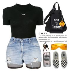 PASSIONFRUIT  by queenbrittani ❤ liked on Polyvore featuring Bitching  Junkfood, Off-White, Loewe, Vans, Michael Kors, Kipling and Casetify