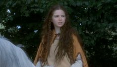 Young Tamsin Egerton in the film 'The Mists of Avalon' Tamsin Egerton, Magic Realms, Mists Of Avalon, Coven, Long Hair Styles, Film, People, Beauty, Medieval