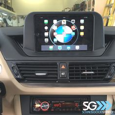 Finished shot of the Apple iPad Mini installation into this BMW. You love this project?  Follow us @soundsgoodstereo @ten87design for more amazing vehicles & installations.#apple #ipad #mini #fabrication #factoryfinish #soundsgoodstereo  Repost from ourmain account @soundsgoodstereo