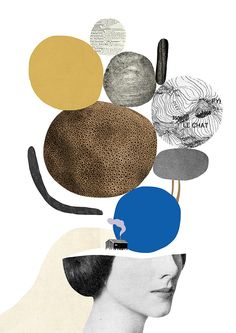 Enjoy the beautiful dada style collages by the French artist and graphic designer Mathilde Aubier. Art Du Collage, Collage Design, Digital Collage, Design Art, Art And Illustration, Collages, Brain Art, Deep Art, Graphic Design Print
