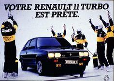 Publicité Renault 11. Besoin de pneus pour votre Renault? C'est ici: http://www.allopneus.com/voiture?l=R==renault.