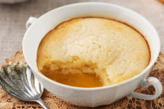 The weather is getting cooler! Warm up with these lemon curd self-saucing puddings. #lemon #pudding #selfsaucing #recipe