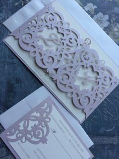 This listing is for lasercut gate pattern wedding invitation complete with intricate detail. Ideal for an elegant wedding day.  The card is laser