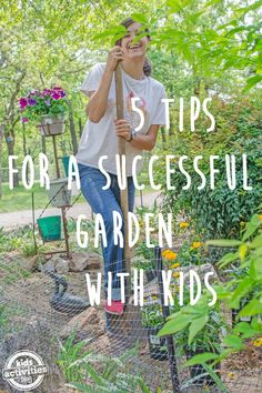 "Give kids roots early in life and they'll never forget where they came from! Search ""5 Tips For A Successful Garden With Kids"" at KidsActivitiesBlog.com for more information! @mantistiller #mantis #gardening #growing #roots #kids #strongkids #healthyfamilies #growthemhealthy #kbn #kab #kbnmoms #farmlife #farmerforlife #kidfarmers"