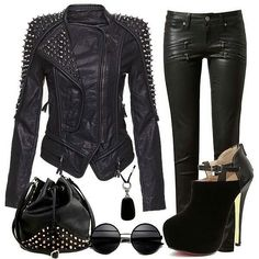 This outfit with a pair of all spiked lita's would be so cute !!