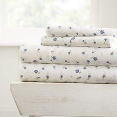 Ienjoy Home Home Collection Premium Ultra Soft Floral Pattern 4 Piece Bed Sheet Set, Queen Bedding 100 Cotton Sheets, Cotton Sheet Sets, Patterned Sheets, King Sheet Sets, Farmhouse Chic, Quilt Sets, Queen, Boutique, Linen Bedding