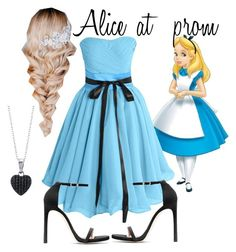 """""""Alice at prom"""" by aliroseheart ❤ liked on Polyvore featuring mode, Stuart Weitzman et BERRICLE"""