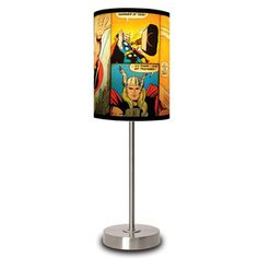 The Mighty Thor Panels Lamp now featured on Fab. -- I need a comic geek room, clearly. I wonder if I could make my own... I'd love lamp shades with Loki or Gambit or Squirrel Girl. XD