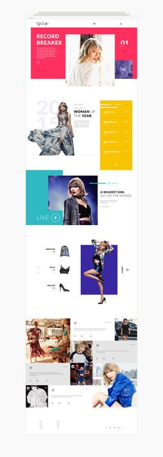 TAYLOR SWIFT_You can't help but fall in love with Taylor Swift. Just admit it. Her catchy tunes make you burst out in song whenever you hear her on the radio. Can you tell we're die hard fans here at SUM?We designed a new website that we think is much…