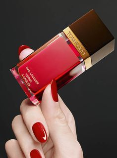 Tom Ford nail polish in carnal red