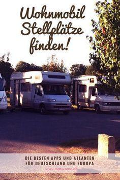Wie kann ich Wohnmobil Stellplätze finden ? Die bekanntesten Camping Apps und Atlanten im Vergleich