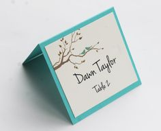 Love Birds Place Card by atouchofsunshine4 on Etsy