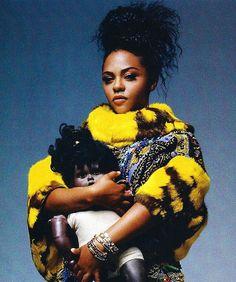 excerpt from the mask of lil' kim (the washington post, sept. Hip Hop Fashion, 90s Fashion, Black Is Beautiful, Black Love, Beautiful Women, Black Girl Magic, Black Girls, Lil Kim 90s, Kimberly Jones