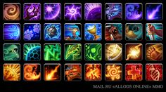 Icons for mmo 'Allods Online' by GalinaPyanicheva