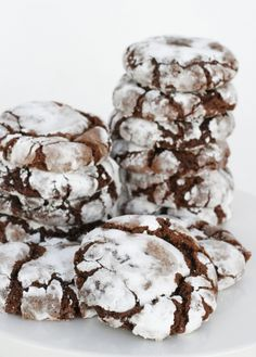 Rich, fudgy and so delicious!!    Chocolate Crinkles - from Glorious Treats