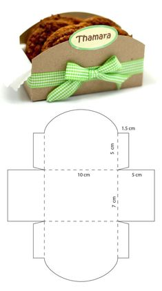 Diy Paper, Paper Crafts, Foam Crafts, Cookie Packaging, Box Patterns, Diy Gift Box, Cookie Box, Diy Crafts For Gifts, Gift Baskets