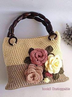 Pin on Crochet Purses/Bags Crochet Wallet, Free Crochet Bag, Crochet Clutch, Crochet Handbags, Crochet Purses, Granny Square Crochet Pattern, Crochet Patterns, Flower Bag, Knitted Bags