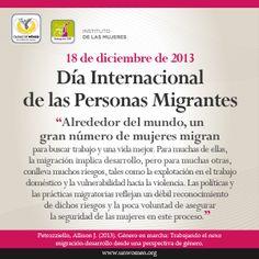 18/Dic. #SoyunMigrante: Hoy es el Día Internacional de las Personas Migrantes.