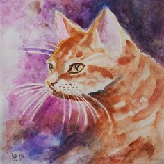 (1) Meoooong, maaf kalau ada yang sama, namaku Agus#art #painting #watercolor #cat #yellow #kucing ##arts_help #aaa_magazine #artscloud #pussy Yellow Cat, Cat Costumes, Watercolor, Cats, Animals, Painting, Instagram, Photos, Gatos