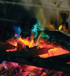 2-pack, Rainbow Fireplace Flame Crystals for Wood Fires:Amazon:Home & Kitchen