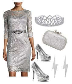 """""""Silver"""" by ladygroovenyc ❤ liked on Polyvore featuring Teri Jon, Bling Jewelry, Edge Only, women's clothing, women, female, woman, misses and juniors"""
