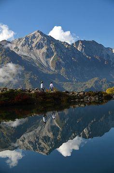 Happo-ike Pond and Mt. Shirouma-yari, Nagano, Japan 八方池 白馬鑓ヶ岳