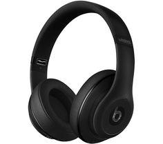 Beats Studio Wireless Over Ear Headphones Matte Black - Beats by Dr. Dre - Over ear - Wireless Beats Studio Headphones, Cheap Headphones, Dre Headphones, Running Headphones, Over Ear Headphones, Headphones Online, Cheap Beats, Ipad Accessories, Shopping