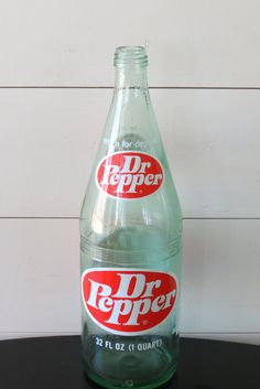Vintage Dr Pepper Bottle - c.1971 Logo, 32 Ounce, 1 Quart, Antique Soda Bottle…